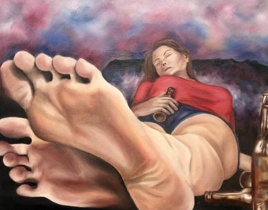 """""""Addiction"""" 2018 - Oil on 16x20 canvas"""