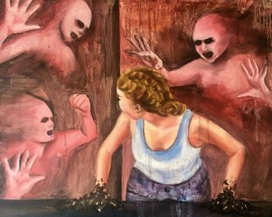 """Schizophrenia"" 2018 - Oil on 16x20 canvas"