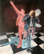 """Obsessive Compulsive Disorder"" 2018 - Oil on 16x20 canvas"