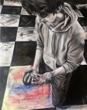 """Depression"" 2018 - Oil on 16x20 canvas"